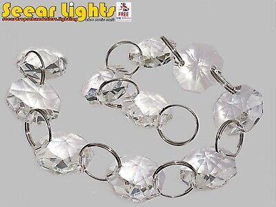 Chandelier Light Crystals Droplets Glass Bead Wedding Drops 14Mm Prism Parts New