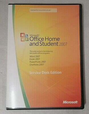 Microsoft Office Home and Student 2007 Service Desk Edition 79G-00756