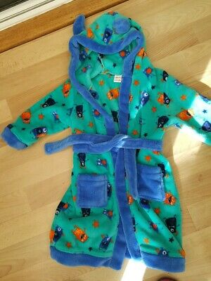 Mini Club Boys Monster  Dressing Gown Age 2-3 Years