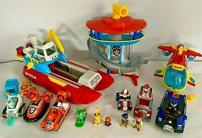 Lot of Paw Patrol Sea Sub Patroller Lookout Playset Chase Rocky Everest Marshall
