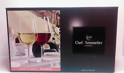 Chef and Sommelier Glasses Palermo Collection Set Of 8 BRAND NEW!!!