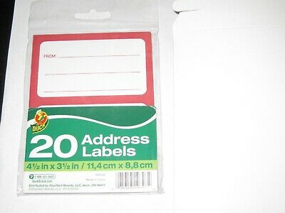 60 Duck Brand Self Sticking Address Labels 3  20 Packs Are Included In This Sale
