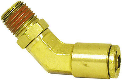 """Air Brake Push-To-Connect Male Elbow, Brass, 1/2"""" x 3/8"""""""