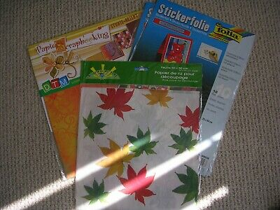 Assorted Papercrafting and Scrapbooking Papers