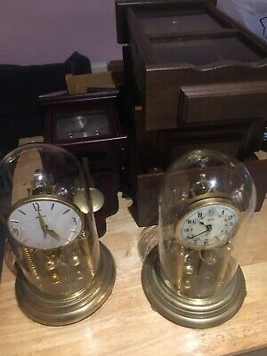 Job Lot X6 Antique Clocks Wall  Bentima Kundo Kieninger Acctim Clock Glass Dome