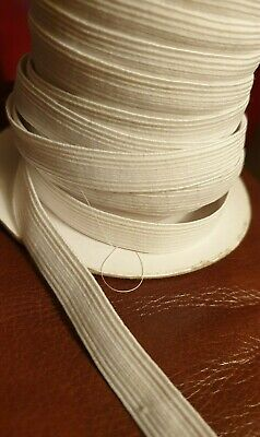 Black or White stretch flat elastic waistband woven sewing trousers dressmaking