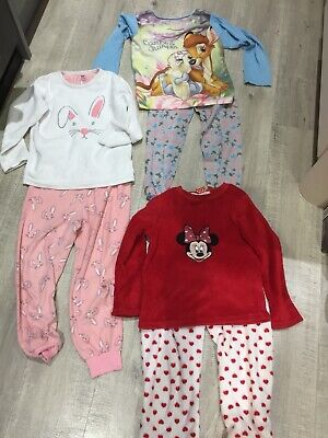 Pyjamas Bundle Girls Age 6-7 Years Disney Night Wear Winter Pyjama Sets Set