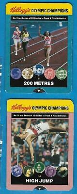 Kellogg's Olympic Champions - System Cards x 2 - High Jump and 200 metres - 1991