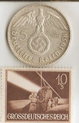 """*rare WW2 *german STAMP and Silver EAGLE(.900%)-coin+*egyptian *king """"Tut"""" coin"""