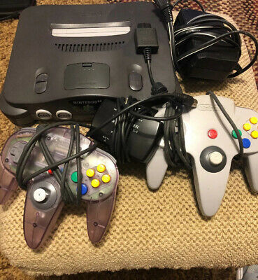 Nintendo 64 Console Bundle N64 2 Controllers Tested
