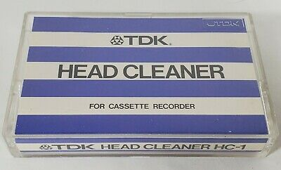 Vintage TDK HC-1 Cassette Head Cleaner Demagnetizer Cassette Tape Retro JAPAN