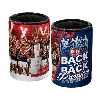Nrl Sydney Roosters 2019 Premiers Back To Back Stubby Holder Can Cooler