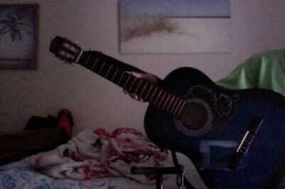 guitar,comes with picks and stand