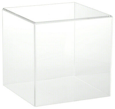 Acrylic clear Countertop Display Case w/ Lift-Off Top- custom made to orders