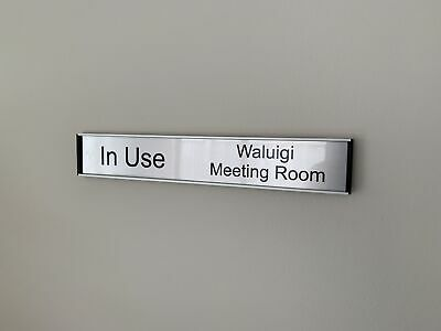 Office Door Sign - Sliding In/Out