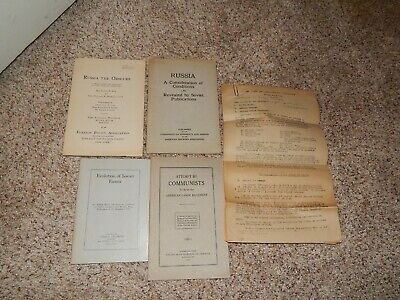 1923-1924 Rare Early Communist Papers/Studies/Opinions/Histories