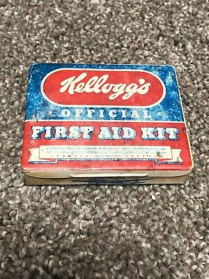 Kelloggs Vintage Official First Aid Kit Tin