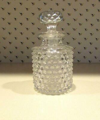 Hobb's Dewdrop or Hobnail Glass Perfume Cologne Bottle Decanter with Stopper