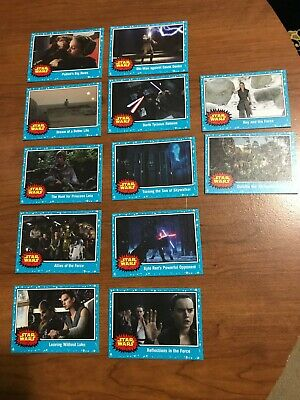 2019 Topps Star Wars Journey to the Rise of Skywalker Base Set Lot of 12