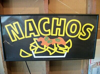 NACHOS  lighted generic Sign. Works Great. Good Condition. Light weight.