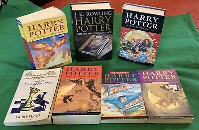 Harry Potter Book Collection - Mixed Bundle - Books 1-7 - 4 First Editions Print