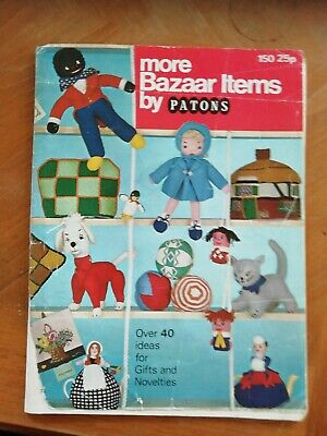 Vintage Patons Knitting Pattern Booklet More Bazaar Items 40 + Knits