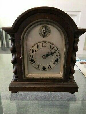 Antique German Mantle Clock, Works Beautifully, Hermle style, Westminster Chime