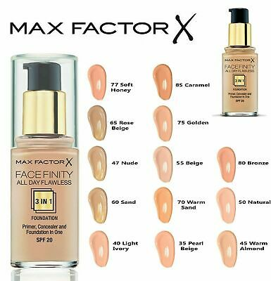 MAX FACTOR Facefinity 3in1 All Day Flawless Foundation 30ml SPF20 *Choose SHADES