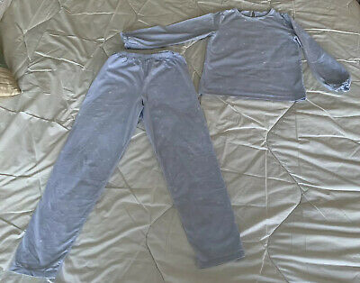 The Little White Company Girl's Grey Star  Pyjamas Age 9-10 Excellent Condition!