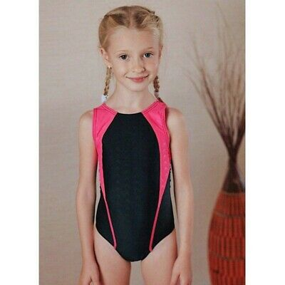 Kids Girls Swimsuit One Piece Patchwork Sport Competitive Children Bathing Suit