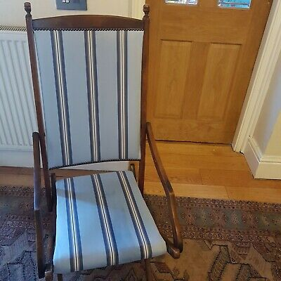 Victorian Solid Oak Folding Campaign Chair