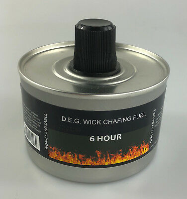 Chafing Dish Liquid Fuel Re-usable High Quality - 6 HOUR BURN TIME.Choose Amount