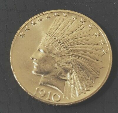 1910 $10 Indian Head Gold BU Choice Mint State USA