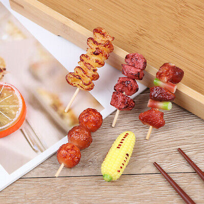 1Pcs Cute Mini Play Toy BBQ Simulation Food Miniature For Doll House  Nd