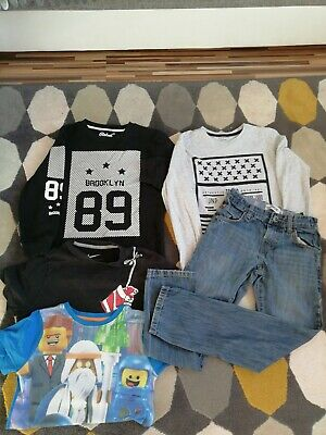 Boys clothes bundle 8-9 years nike shirt, ripstop jeans,jumpers lego movie