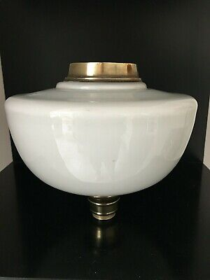 victorian opaline white glass oil lamp fount