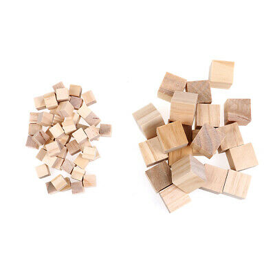 10/25mm Wooden Square Solid Mini Cubes Embellishment for Woodwork Craft DI_VV