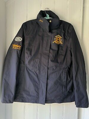 Joules Ladies Land Rover Burghley Horse Trials Navy Coat Size 10