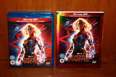Captain Marvel 3D Blu-Ray with Slipcover