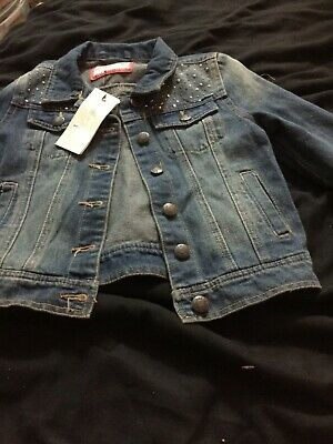Girls  denim jacket  Age 6-7 brand new with tags