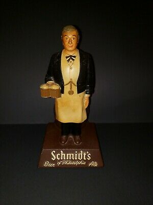 Vintage Cast Waiter Bar Schmidts Beer Philadelphia PA