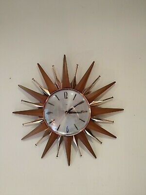 Metamec Sunburst Vintage Wall clock (complete and working)