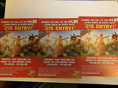 Chessington World of Adventures Discount Ticket Flyers for £10 or £15 Entry 2020