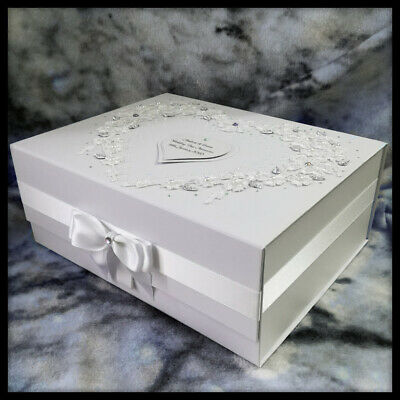 Personalised wedding gift, Large keepsake memory box, For My Bride to be, Mr/Mrs