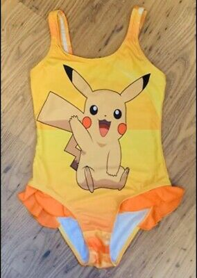 Girls age 9/10 - 10/11 Pikachu Pokemon swimming costume - NWT
