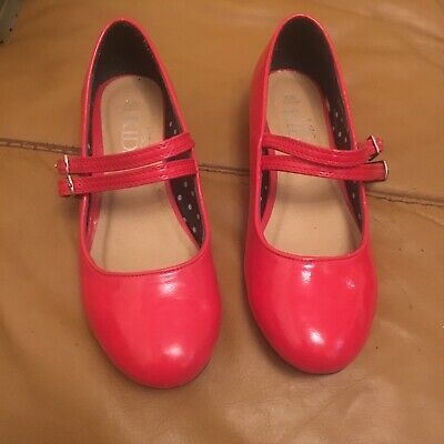 girls red patent shoes size 2 - Marks & Spencer