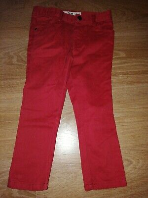 Boys jeans age 3-4 Primark tan/red new unwanted Xmas gift