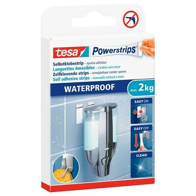 tesa Powerstrips® WATERPROOF Strips 2 Kg  Klebemittel Powerstrips Wasserfest
