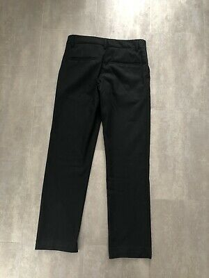 Boys M&S Black Slim Fit School Trousers Age 12-13 (see photos)