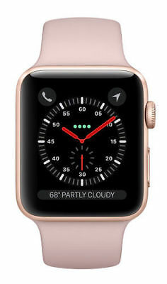Apple Watch Series 3 38mm Gold Aluminium Case with Pink Sand Sport Band (GPS)